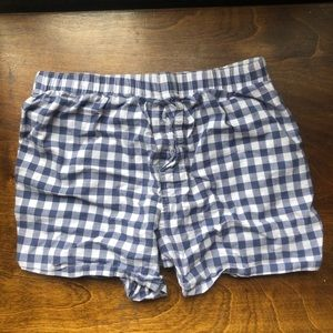 (Free*) Blue and White Gingham Boxers